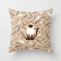 Siam cat Throw Pillow