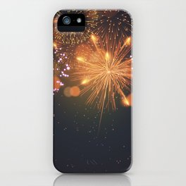 Happy Fireworks iPhone Case