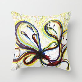 Emotion Ghosts Throw Pillow