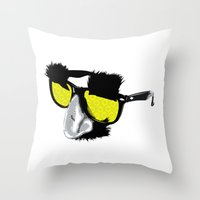 marx Throw Pillows featuring Groucho Marx by Michelle Eatough