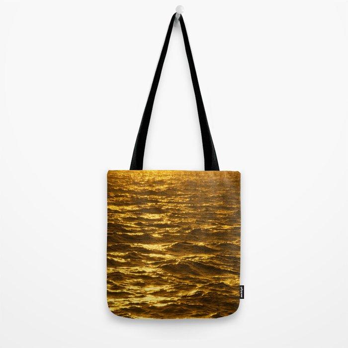 Gold Ocean Tote Bag