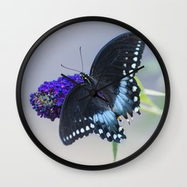 Butterfly Blues Wall Clock