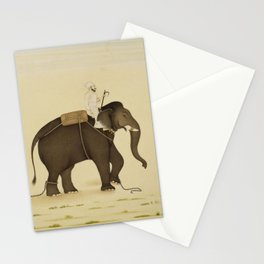 Mahout Riding an Elephant Painting (18th Century) Stationery Cards