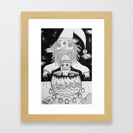Jumped out the sorcerers cauldron. Framed Art Print
