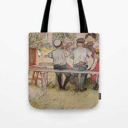 Carl Larsson Breakfast Under The Big Birch Tote Bag
