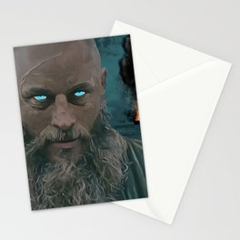 Ragnar Lothbrok Painting, King of the Northmen Stationery Cards