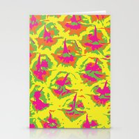 preppy Stationery Cards featuring Preppy Pineapple by Kristin Seymour
