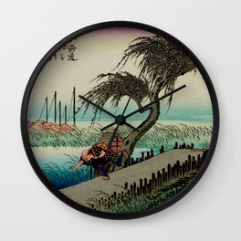 Yokkaichi - Vintage Japanesse Ukiyo e Art Wall Clock