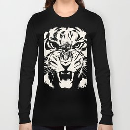 White Tiger Vector Long Sleeve T-shirt