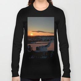 Snowy Yorkshire Sunrise Long Sleeve T-shirt
