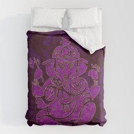 Ganesha Elephant God Purple And Pink Comforters