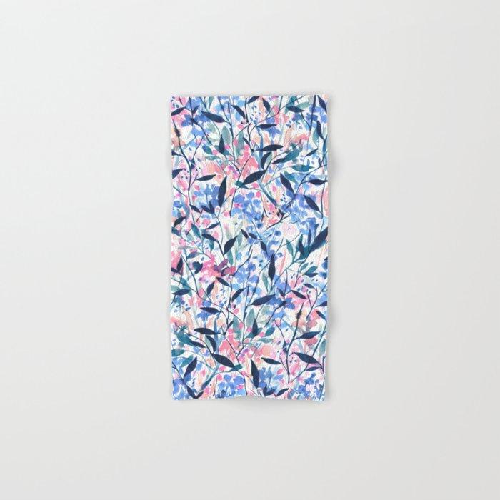 Wandering Wildflowers Blue Hand & Bath Towel