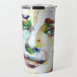 MARIA CALLAS - watercolor portrait.9 Travel Mug
