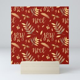 Glampmas Red and Gold Palette Mini Art Print