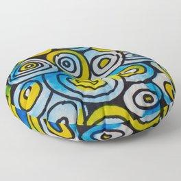 Blue Buttons Floor Pillow