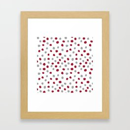 University of Alabama colors dots polka dots minimal pattern college football sports Framed Art Print
