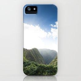 Iao Valley Mist // Horizontal iPhone Case