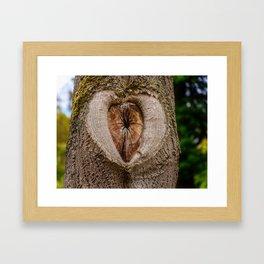 tree tribe branch knothole nature Framed Art Print