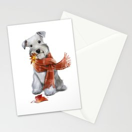 Little cute white dog Stationery Cards