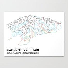 Mammoth Mountain, CA - Minimalist Trail Map Canvas Print