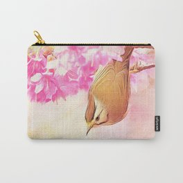Taiwan Yuhina with Cherry Bloosom Carry-All Pouch