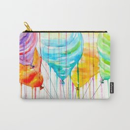 Balloons Watercolor Carry-All Pouch