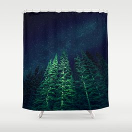 Star Signal - Nature Photography Shower Curtain