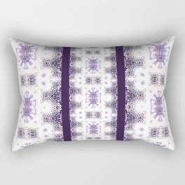 Royal Purple Panel Design Rectangular Pillow