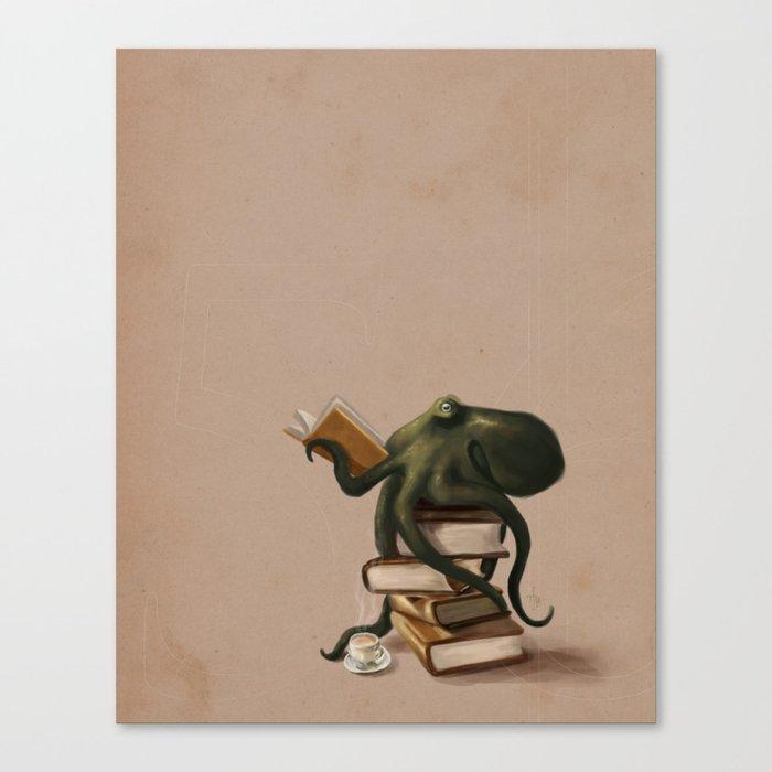 Well-Read Octopus Leinwanddruck