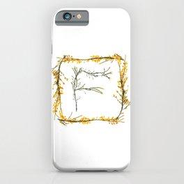 "Seaweed Alphabet ""F"" iPhone Case"