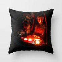 meditation Throw Pillows featuring Meditation by Christine Belanger