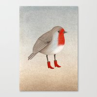 robin Canvas Prints featuring Robin by Hana Stupica