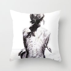 Back and Shadow Study Throw Pillow
