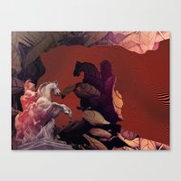 heroes Canvas Prints featuring Heroes by infloence