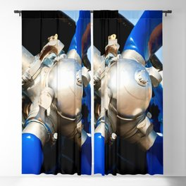 Blue Propeller Of The Vintage Piston Engine Aircraft Blackout Curtain