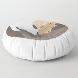 Otter Mother and Child Floor Pillow