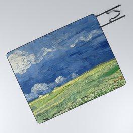 Vincent van Gogh - Wheatfield Under Thunderclouds Picnic Blanket
