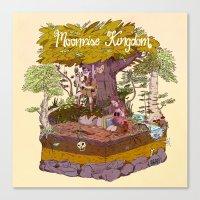 moonrise kingdom Canvas Prints featuring Moonrise Kingdom by BBAE2