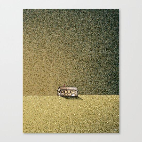Long Narrow Home Outside Oneonta Canvas Print