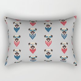 Pug summer bandana sunglasses pure breed dog gifts Rectangular Pillow