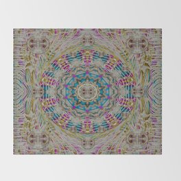 Rainbow lace and pearls to sparkle with you Throw Blanket