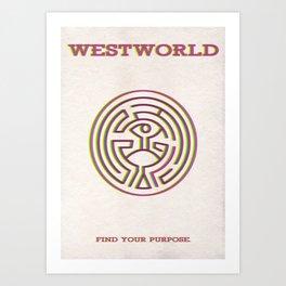 Westworld Minimalist Poster - The Maze Art Print