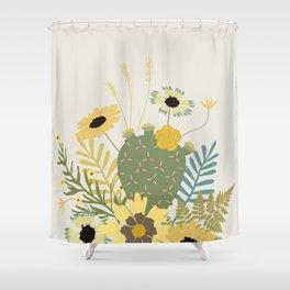Wildflowers & Cactus Shower Curtain