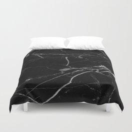 modern black marble look Duvet Cover