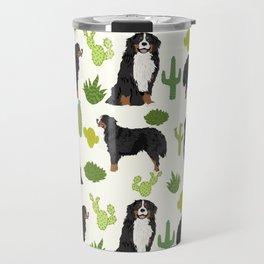 Bernese Mountain Dog cactus - bmd, bernese mountain dog blanket, bernese mountain dog decor, bernese Travel Mug