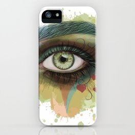 Stylized eye art iPhone Case