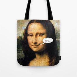 Smirking Mona Lisa Tote Bag
