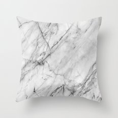 Carrara Marble Throw Pillow