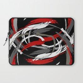 brushstrokes (red gray black white) Laptop Sleeve