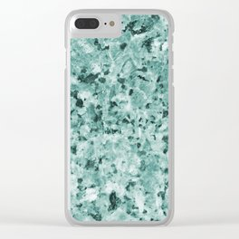 Special Jade Granite Clear iPhone Case